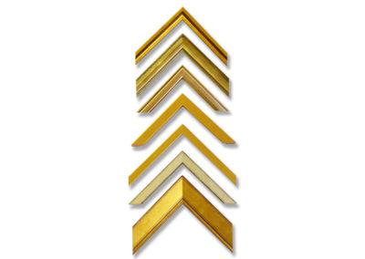 Ett urval av guld ramar