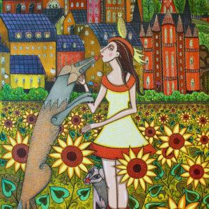 Tavla Drömmarnas fält av Angelica Wiik