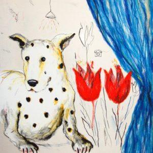 Tavla Hunden väntar på annat av Suzanne Nessim