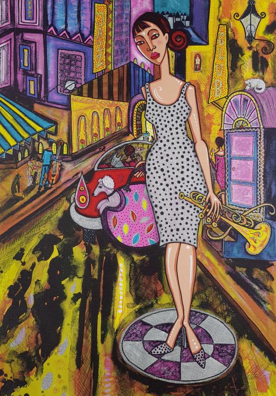 Tavla Jazzstråk av Angelica Wiik