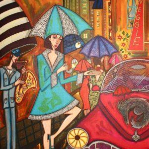 Tavla Kvällsregn av Angelica Wiik