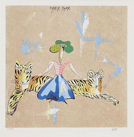 Tavla Tiger tiger av Madeleine Pyk